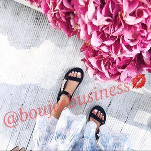 ZARA Bejeweled Flat Sandals